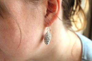 Real Pine cone earrings