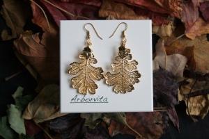 Real Oak leaf earrings