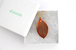 Real Rose leaf necklace