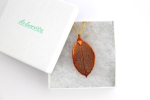 Real Rose leaf necklace