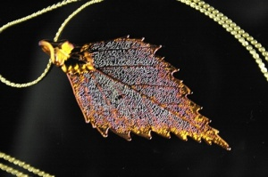 Real Birch leaf necklace